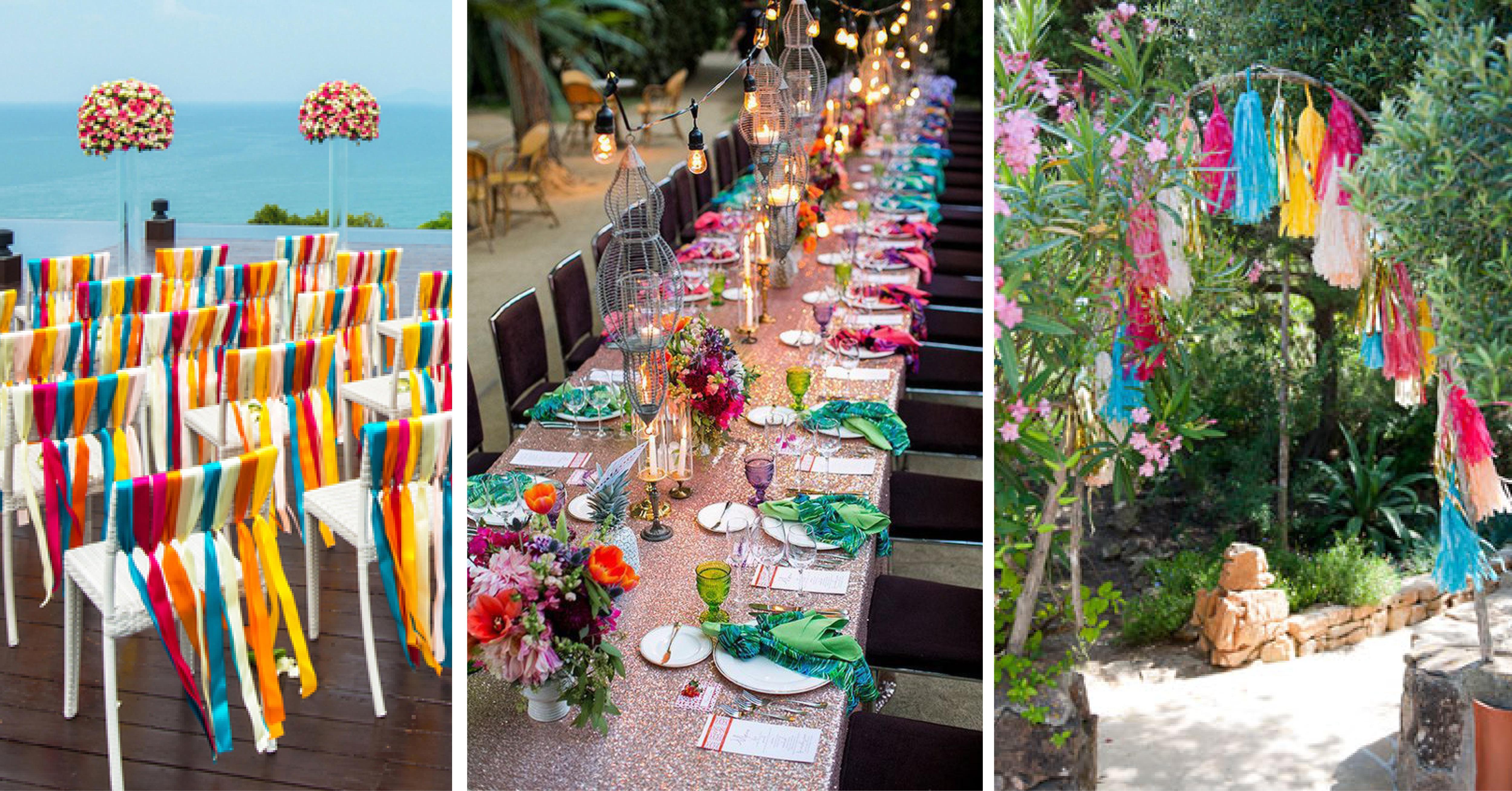 Rainbow Wedding Theme Wedding Ideas Ibiza Wedding Guide